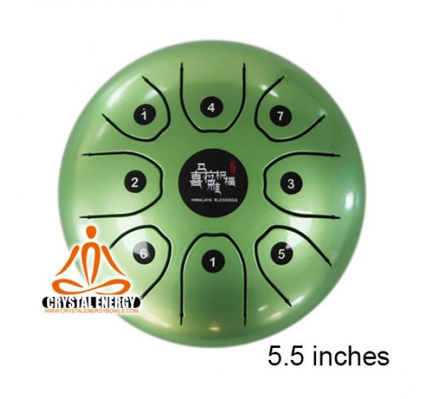 STEEL TONGUE DRUM / HANDPAN GREEN COLOR 8''