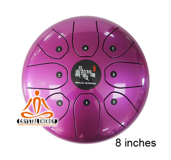 steel tongue drum purple color 8 inches