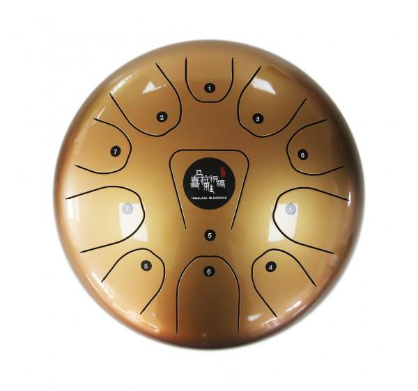 steel tongue drum golden color 12 inch