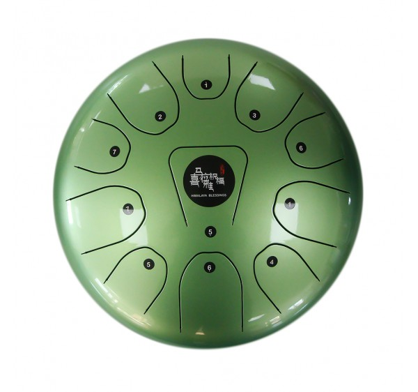 steel tongue drum green color 12 inch