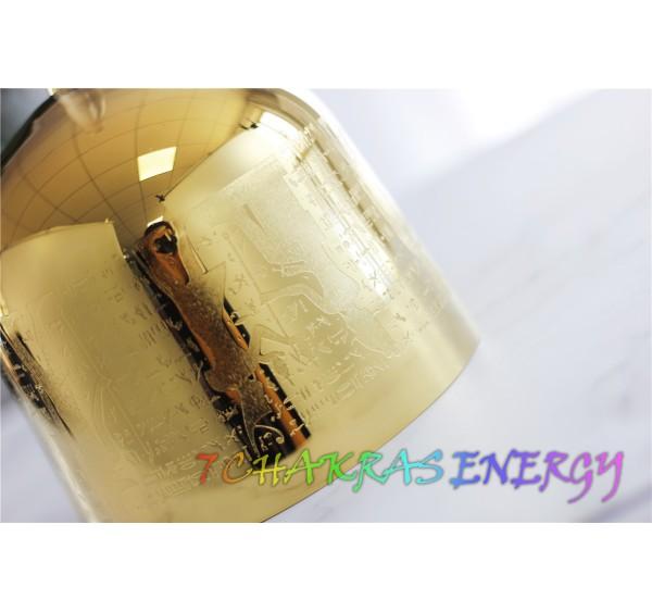 God of Egypt design golden plated crystal singing bowls 7 inches