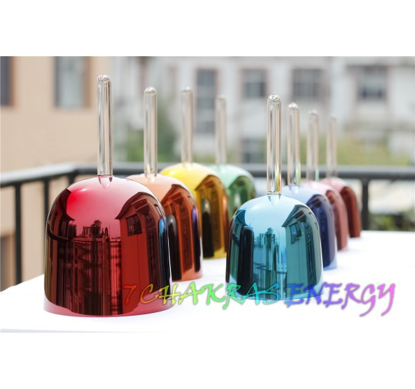 colorful crystal singing handle bowl set  with C4 to C5