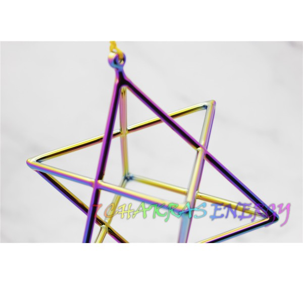 Cosmic light  crystal singing Merkaba 5 inches