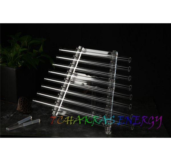 perfect 8 tones C D E F G A B C crystal singing harp 440Hz